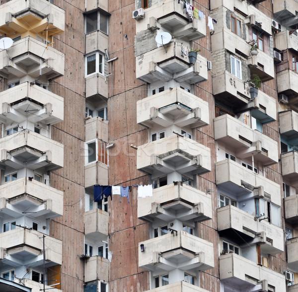クローズアップ 壁 窓 アパート 家 オフィス ストックフォト © vlaru
