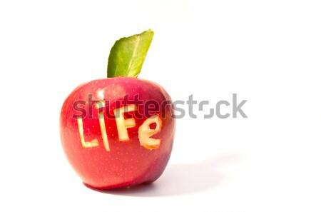 Szó élet kivágás piros alma étel alma Stock fotó © vlaru