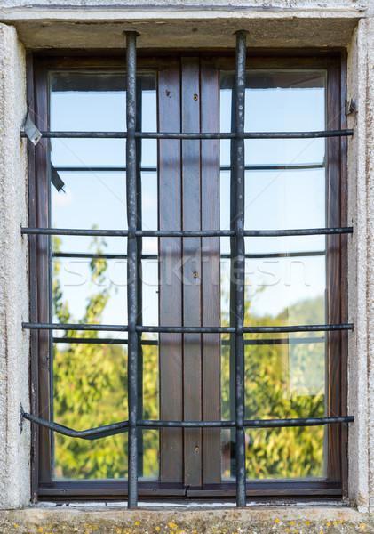 old window with metal bars  Stock photo © vlaru
