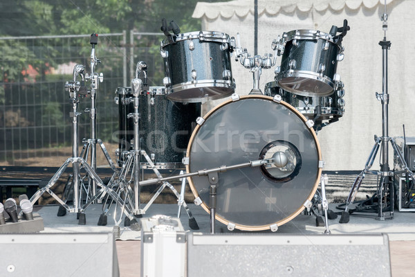 drum set on the concert stage Stock photo © vlaru