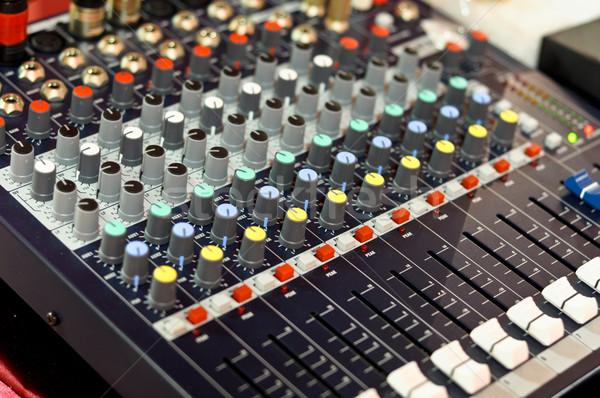 Miksera przyciski wyposażenie audio muzyki Zdjęcia stock © vlaru