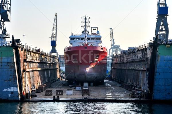 船 ドック 水 建設 ストックフォト © vlaru