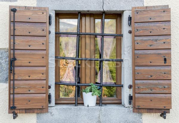 ウィンドウ オープン 木製 いい ブラウン ストックフォト © vlaru