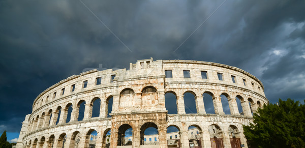 Ancient amphitheater in Pula Croatia Stock photo © vlaru