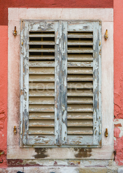 old window with  closed shutters Stock photo © vlaru