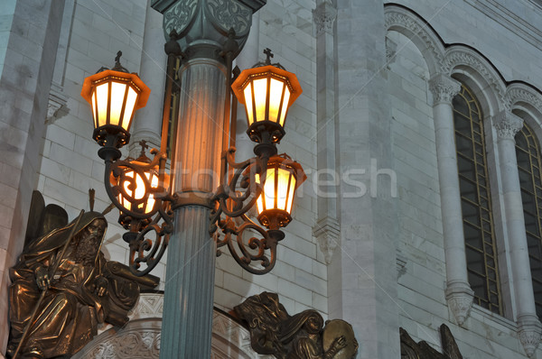 Christ the Saviour Cathedral at night.  details and close up. Moscow. Russia Stock photo © vlaru