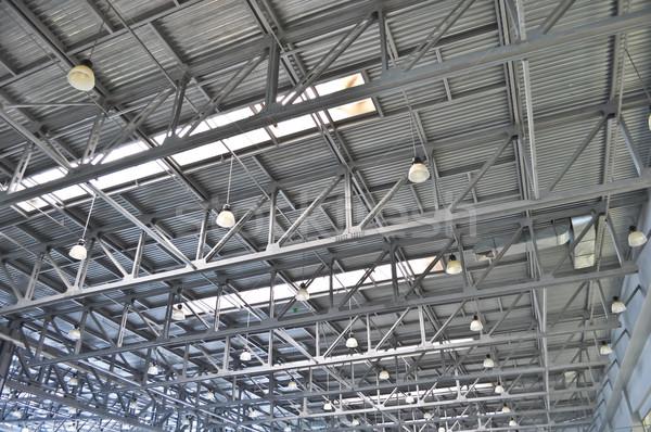 Stock photo: ceiling slabs in industrial buildings