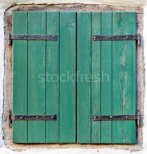 old window with  wooden shutters Stock photo © vlaru