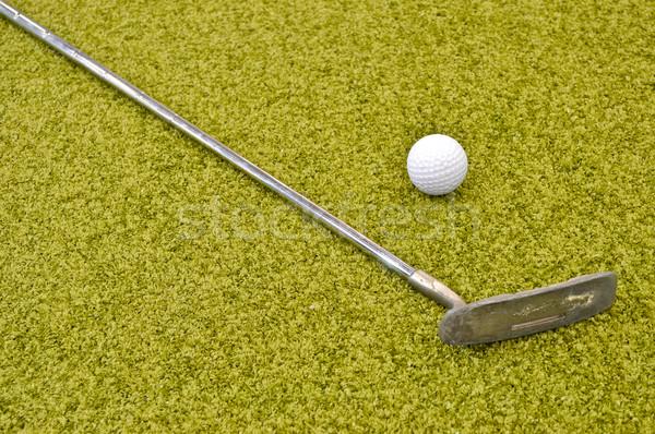Mini golf bent belső család lány Stock fotó © vlaru