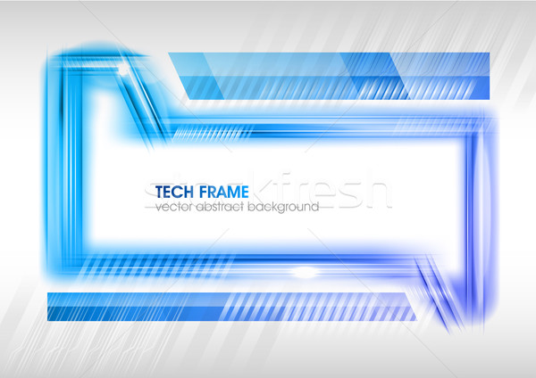 抽象的な ハイテク フレーム 白 インターネット 背景 ストックフォト © vlastas