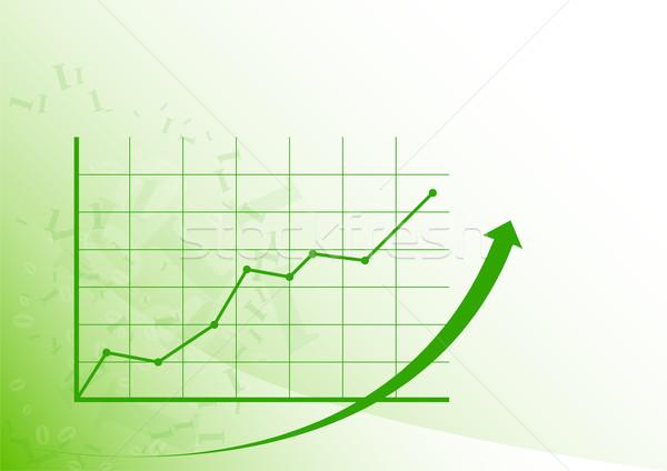 графа вверх зеленый растущий белый деньги Сток-фото © vlastas
