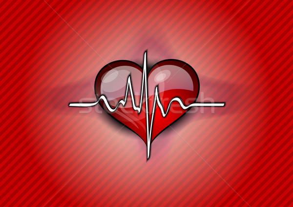 red heart pulse Stock photo © vlastas