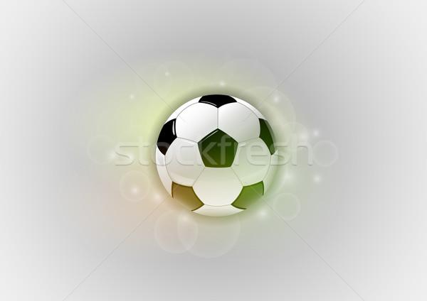 Voetbal grijs voetbal abstract licht achtergrond Stockfoto © vlastas