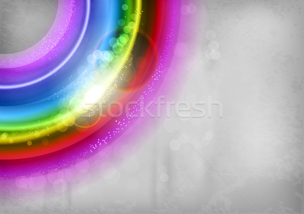 радуга Круги углу текстуры аннотация свет Сток-фото © vlastas