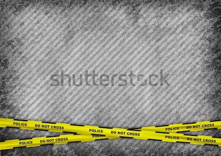 Omicidio grigio texture criminalità silhouette uomo Foto d'archivio © vlastas