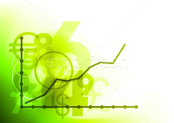 Gráfico de negócio gráfico para cima dinheiro fundo corporativo Foto stock © vlastas