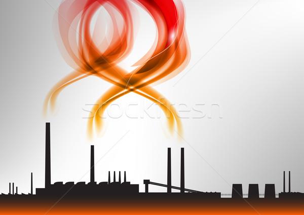 красный завода дым бизнеса здании строительство Сток-фото © vlastas