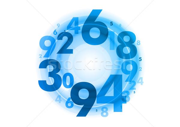 青 番号 抽象的な 金融 銀行 企業 ストックフォト © vlastas