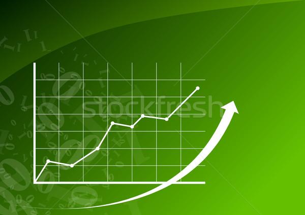 Grafiek omhoog groene business kantoor tabel Stockfoto © vlastas