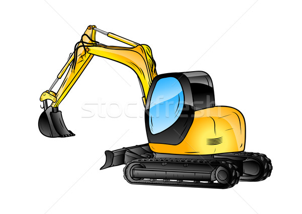 excavator isolated Stock photo © vlastas