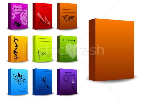 Karton eenvoudige kleur groene Rood Stockfoto © vlastas