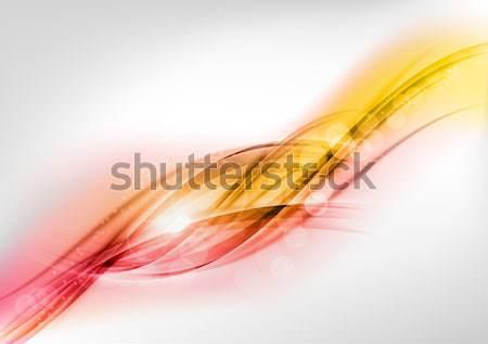 красный белый искусства пространстве обои Сток-фото © vlastas