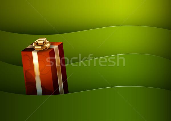 Geschenken geschenk groene verjaardag winter goud Stockfoto © vlastas