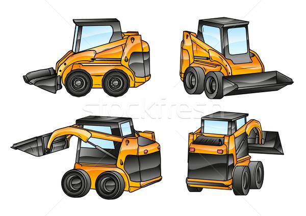 isolated excavators Stock photo © vlastas