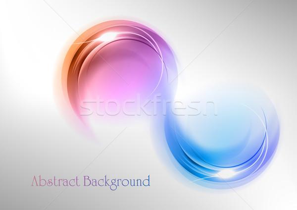 белый серый искусства пространстве синий Сток-фото © vlastas