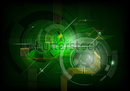Stockfoto: Groene · technologie · vector · tech · computer · internet