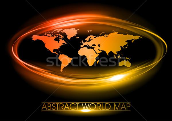красный карта Мир аннотация круга мира Сток-фото © vlastas