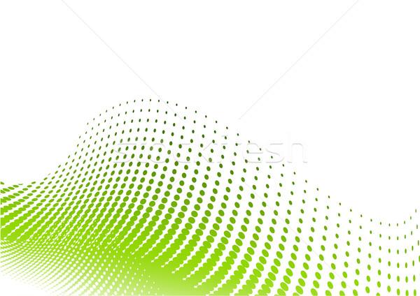 Verde meio-tom branco textura fundo arte Foto stock © vlastas
