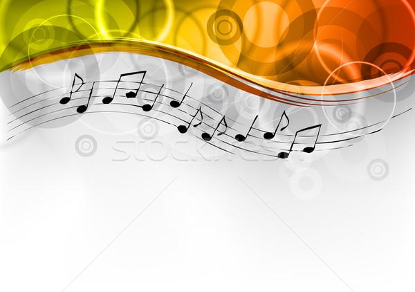 музыки отмечает аннотация искусства фортепиано ключевые черный Сток-фото © vlastas