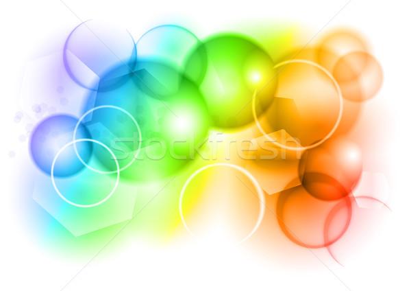 Regenboog bubble abstract kleur licht ontwerp Stockfoto © vlastas