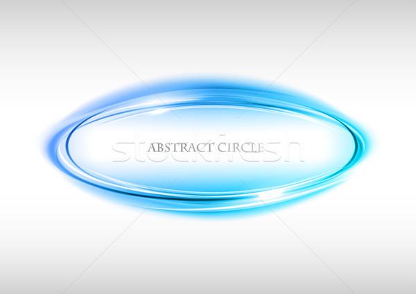 Blauw cirkel witte textuur achtergrond frame Stockfoto © vlastas