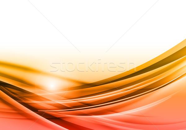抽象的な ベクトル オレンジ デザイン 背景 スペース ストックフォト © vlastas
