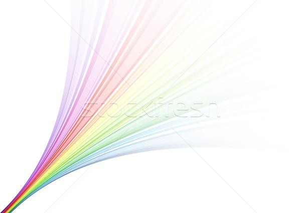 Regenboog fontein witte textuur licht ontwerp Stockfoto © vlastas