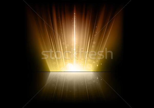 Oro oscuro espacio fiesta luz energía Foto stock © vlastas