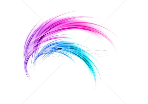 синий Purple цветами искусства пространстве Сток-фото © vlastas