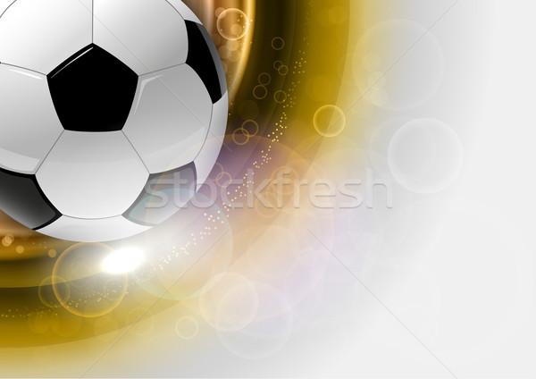 Futebol símbolo futebol ouro abstrato luz Foto stock © vlastas