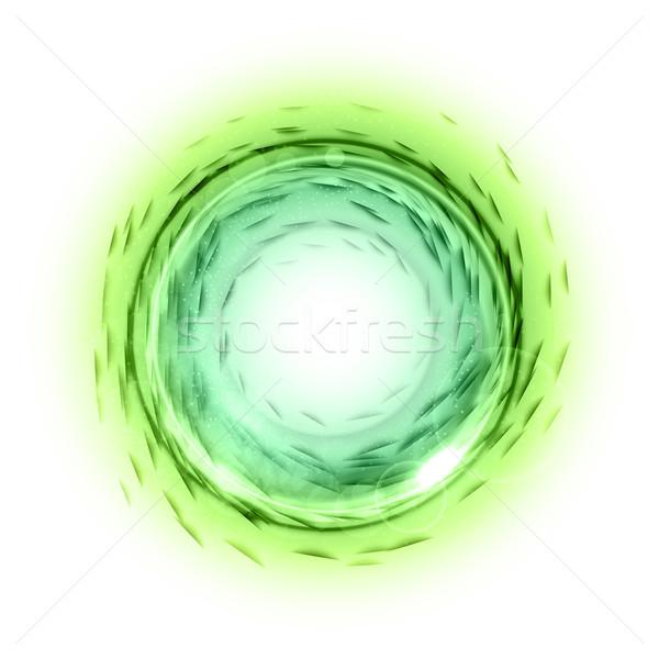 зеленый круга современных элемент пусто белый Сток-фото © vlastas