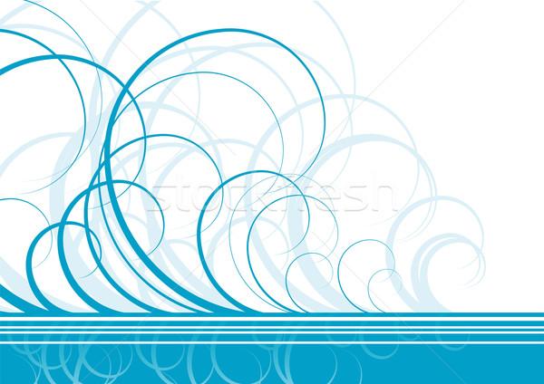 Swirl vector Blauw kleur textuur voorjaar Stockfoto © vlastas
