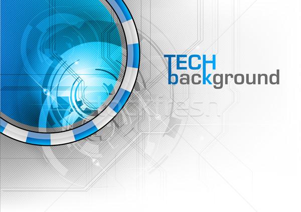 Tech Blauw computer internet achtergrond ruimte Stockfoto © vlastas