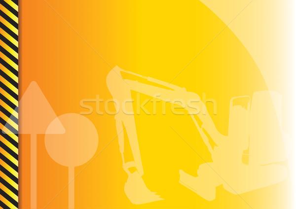 építkezés narancs szimbólumok absztrakt utca városi Stock fotó © vlastas