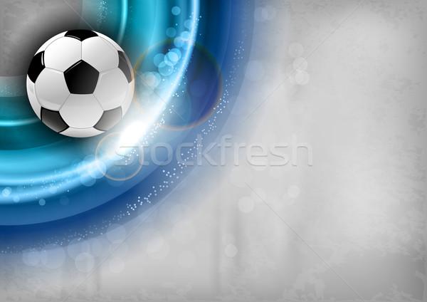 サッカー 青 抽象的な サッカー 光 背景 ストックフォト © vlastas