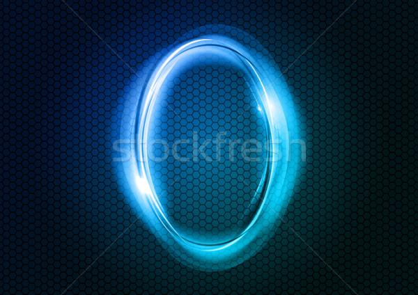 Absztrakt nulla szám nagy numerikus kék Stock fotó © vlastas