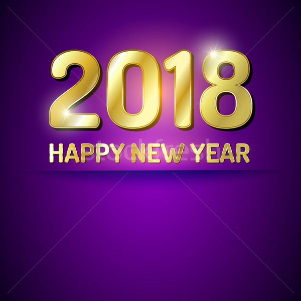 Happy New Year 2018 greetings card Stock photo © vlastas