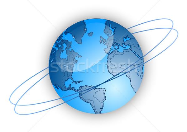 Wereld wereldbol Blauw aarde wetenschap bal Stockfoto © vlastas