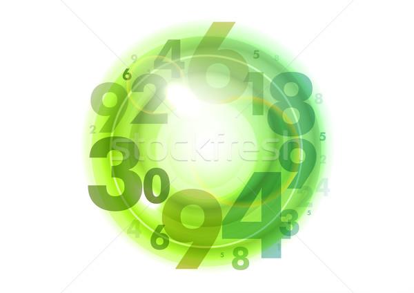 Verde círculo números abstrato financiar banco Foto stock © vlastas