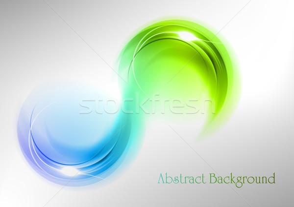 Resumen curvas verde azul colores arte Foto stock © vlastas